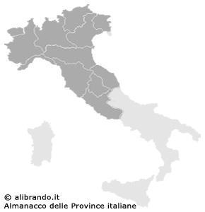 Italia e le province del nord e centro